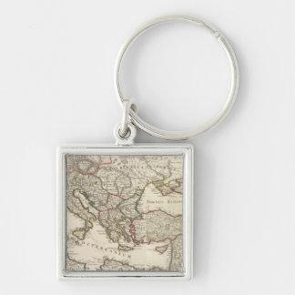 Rome 2 Silver-Colored square key ring
