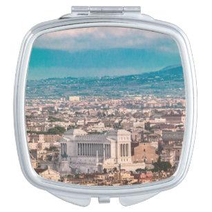 Rome Aerial View at Saint Peter Basilica Viewpoint Compact Mirror