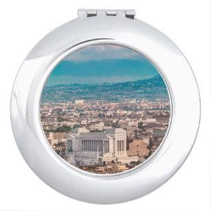 Rome Aerial View at Saint Peter Basilica Viewpoint Makeup Mirror