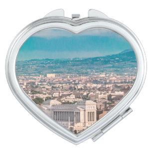Rome Aerial View at Saint Peter Basilica Viewpoint Travel Mirror