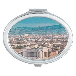 Rome Aerial View at Saint Peter Basilica Viewpoint Vanity Mirror