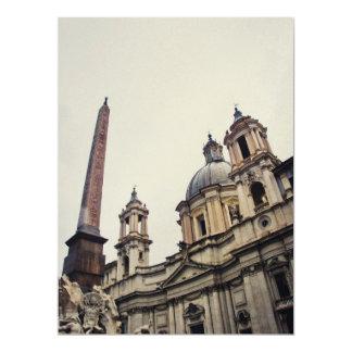 Rome architecture 17 cm x 22 cm invitation card