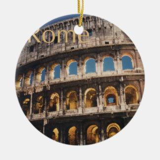 Rome at Night Ceramic Ornament