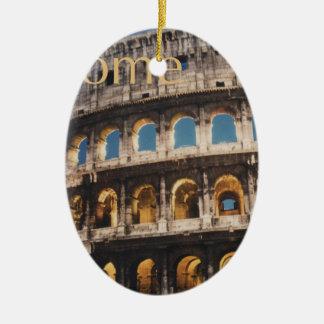 Rome at Night Ceramic Oval Decoration