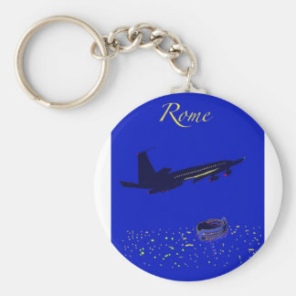 Rome at Night Keychains