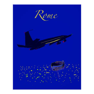 Rome at Night Poster
