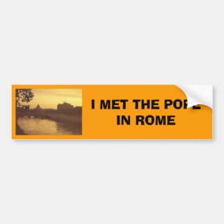 Rome at sunset, River Tiber and St Peter's Bumper Sticker