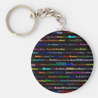 Rome Black Keychain (Fill)