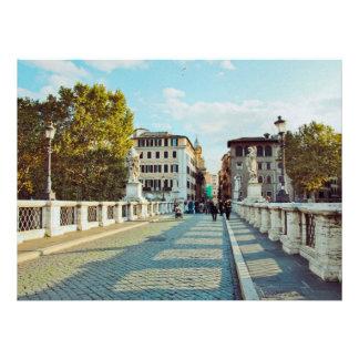 Rome bridge custom invitations