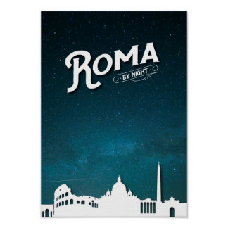 Rome by night poster