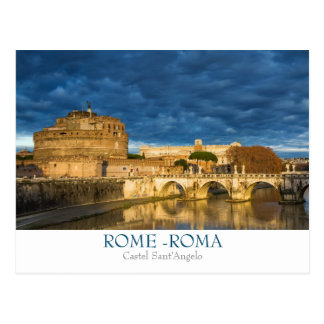 Rome - Castel Sant'Angelo postcard with text