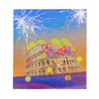 Rome celebrates season with tennis balls, flowers notepads