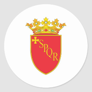 Rome Coat Of Arms Classic Round Sticker