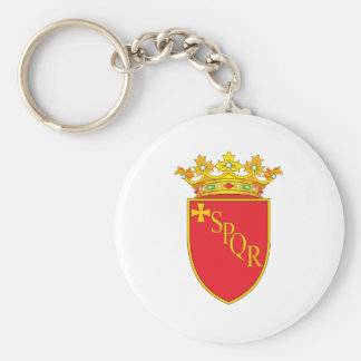 Rome Coat Of Arms Basic Round Button Key Ring