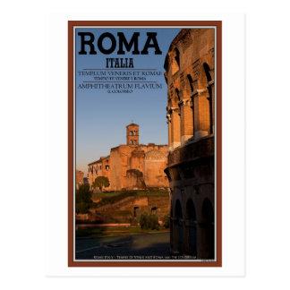 Rome - Colosseum and Temple of Venus Postcard