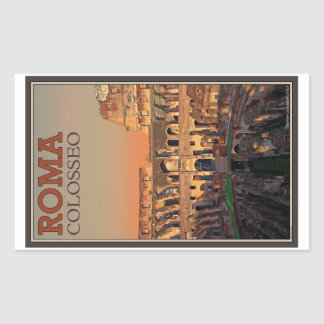 Rome - Colosseum and the Moon Rectangular Sticker
