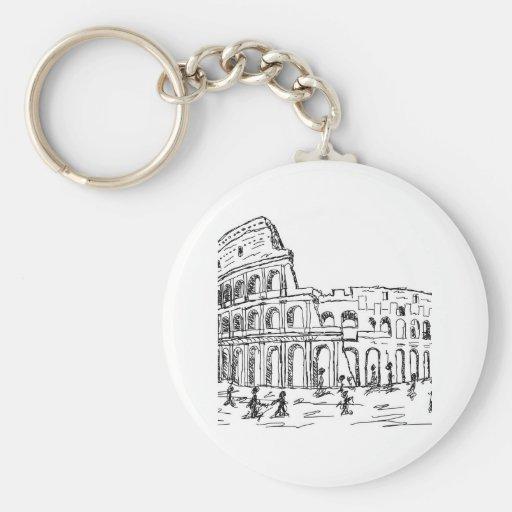 rome colosseum keychain