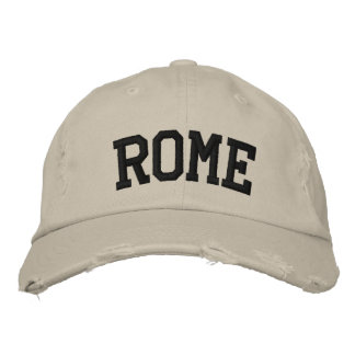 Rome Embroidered Hat