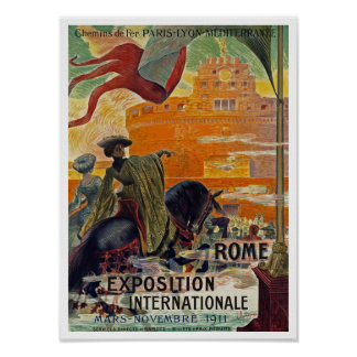 Rome ~ Exposition Internationale 1911 Poster
