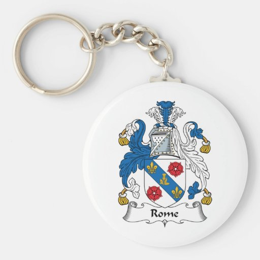 Rome Family Crest Key Chains