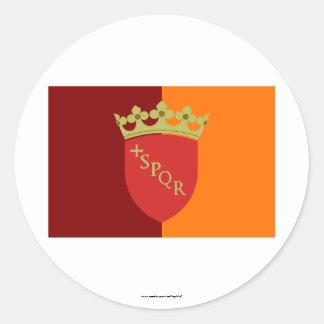 Rome Flag Classic Round Sticker