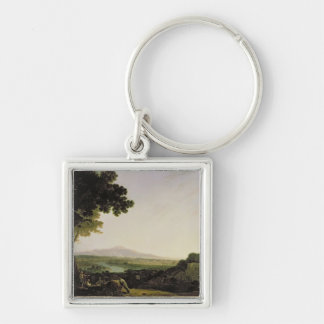 Rome from the Villa Madama (oil on canvas) Keychain