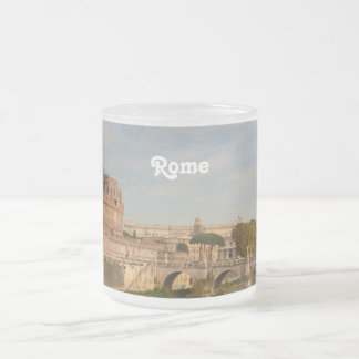 Rome Frosted Glass Coffee Mug