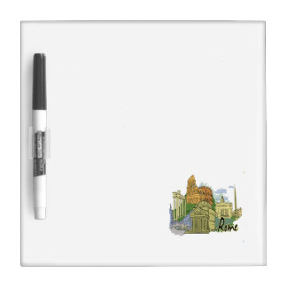 rome graphic travel image.png dry erase whiteboard