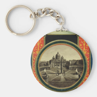 Rome guide book cover 1900 keychains