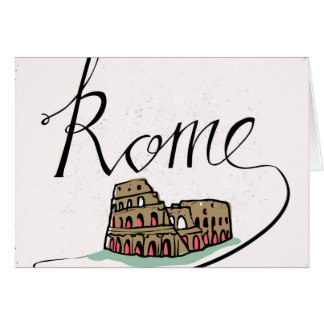 Rome Hand Lettered Design Card