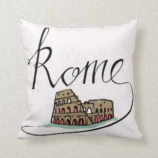 Rome Hand Lettered Design Cushion