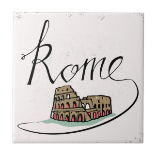 Rome Hand Lettered Design Tile