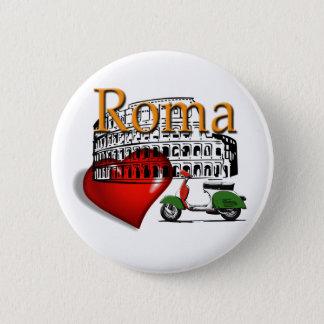 Rome in my Heart 6 Cm Round Badge