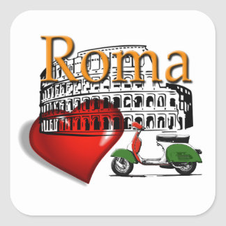 Rome in my Heart Square Sticker