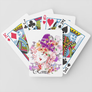 Rome in Woman Bicycle Playing Cards