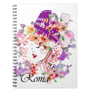 Rome in Woman Notebook