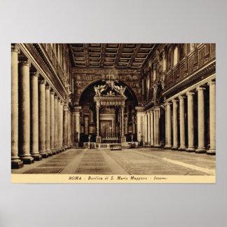Rome, Inside S. maria Maggiore Poster