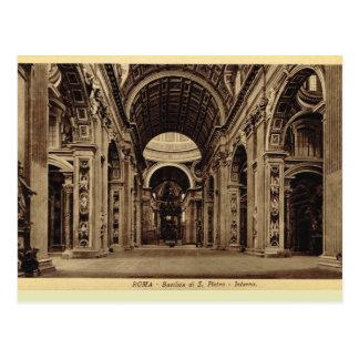 Rome, Inside St Paul's Basilica Postcard
