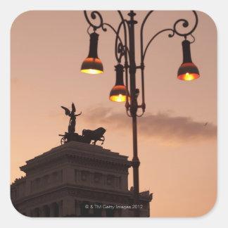 Rome, Italy 9 Square Sticker