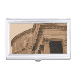 Rome Italy Ancient Roman Pantheon Architecture Business Card Cases