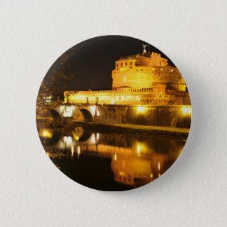 Rome, Italy at night 6 Cm Round Badge