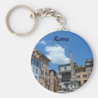 Rome, Italy Basic Round Button Key Ring