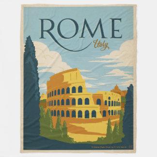 Rome, Italy Colosseum Fleece Blanket