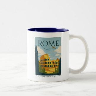 Rome, Italy Colosseum Two-Tone Coffee Mug
