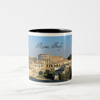 Rome, Italy - Colosseum Two-Tone Coffee Mug