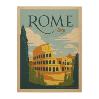Rome, Italy Colosseum Wood Wall Decor