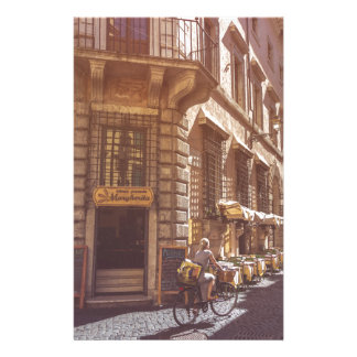 Rome Italy Italian Grocery Getter Bike Cobblestone Customised Stationery