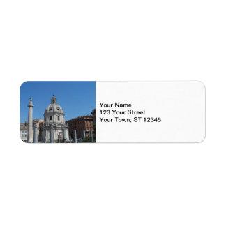 Rome, Italy Return Address Label