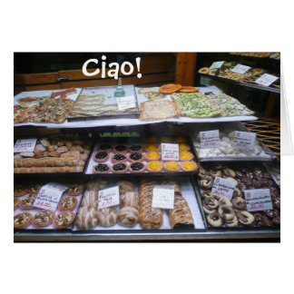 Rome Italy Pastry Shop Notes, Ciao! (blank) Card