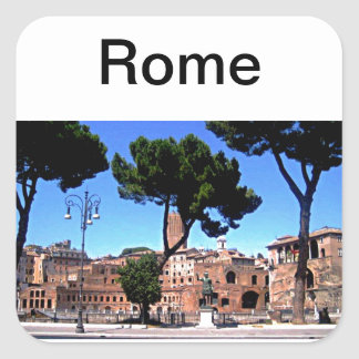 Rome Italy Photograph Square Sticker